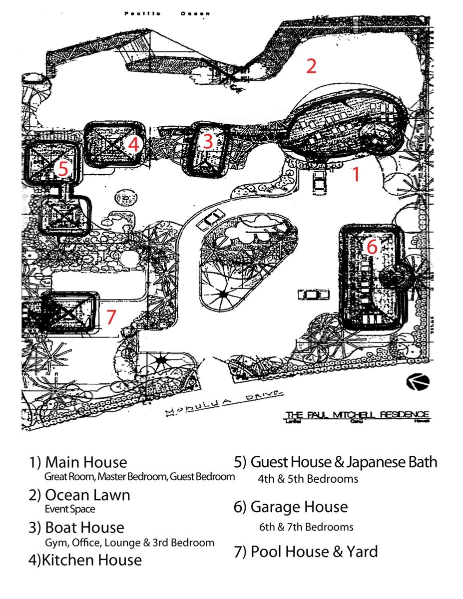 Floor Plan for Paul Mitchell Estate